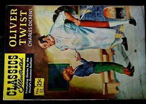 CLASSICS ILLUSTRATED 23 OLIVER TWIST HRN 169 VG+STIFF PAINTED COVER FINAL EDTION
