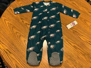 Philadelphia Eagles NFL Baby Boys' Blanket Sleeper Size 12 Months - NWT