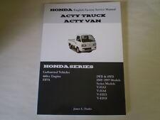Honda Acty English Service Manual Shop repair Manual HA1 HA2 HA3 HA4
