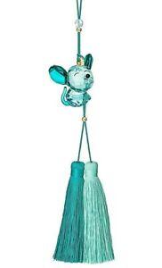 Swarovski Crystal 2019 Blue Teal Asian Symbol Rat Figurine / Ornament, NIB, COA
