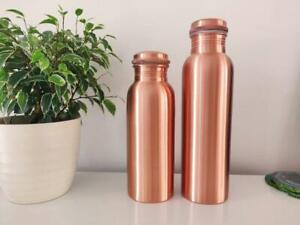 100% Pure Copper Water Bottle Handmade, Yoga Ayurveda Health Benefits Joint less