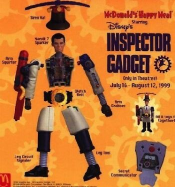 1999 McDonalds Inspector Gadget Replacement Figure Pieces Happy Meal Toys