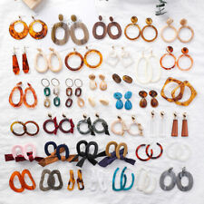 Assorted Acrylic Tortoise Shell Earring Round Circle Resin Hoop Earring For Lady
