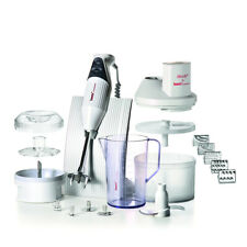 Bamix Superbox 200W Electric Hand Blender/Mixer w/Jug/Stand/SliceSy/Processor WH
