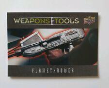 "Upper Deck Alien - WT1 - Weapons & Tools Trading Card ""Flamethrower"""