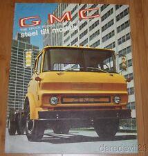Vintage 1969 General Motors GMC Steel Tilt Model Trucks Dealer Brochure 9 Pages