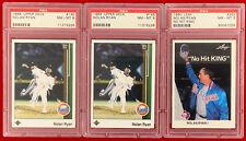 Nolan Ryan 2 1989 Upper Deck #145  1 1990 Leaf #265 PSA 8 Baseball Cards HOF 🔥