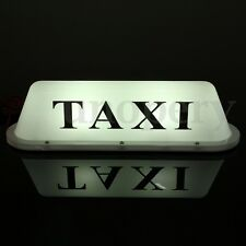 12V Waterproof LED Light Lamp Taxi Cab Roof Top Sign Topper Shell Magnetic   +