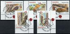 More details for namibia birds on stamps 2020 cto woodpeckers cardinal woodpecker 5v set