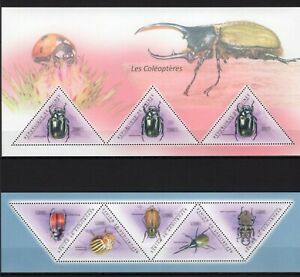 GUINEE 2011 LES COLEOPTERES INSECTS BEES BUGS FLORA FAUNA STAMPS MNH**