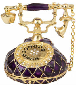 Telephone Trinket - Purple & Gold Colour - Limited Edition - Brand New