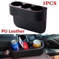 Leather Car Seat Seam Cup Holder Food Drink Bottle Mount Wedge Storage Organizer