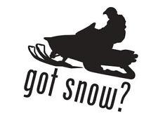 Got Snow? w/ snowmobile Decal-2 For The Price Of 1 -Polaris, Arctic Cat, Ski-Doo