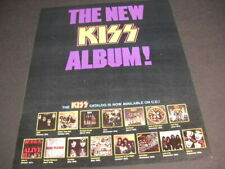 KISS original 1985 Promo Poster Ad THE KISS CATALOG IS NOW AVAILABLE ON CD