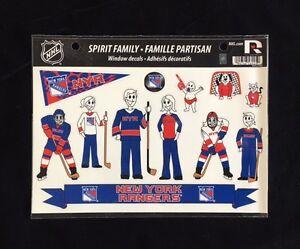 New York Rangers Spirit Family Decals NEW car/truck window - Set of 17