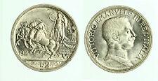 pcc1832_1) Vittorio Emanuele III  (1901-1943) 2 Lire Quadriga Briosa 1914
