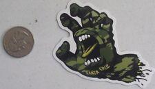 santa cruz sticker screaming hand camo skate skateboard cell laptop bumper
