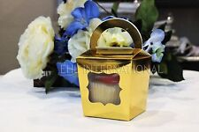 Gold Silver Cupcake Boxes Tote Container Party Shower Wedding Favor Gift 25pcs