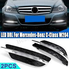 2PCS LED Daytime Running Light Fog Lamp DRL For Mercedes Benz W204 C300 11-13