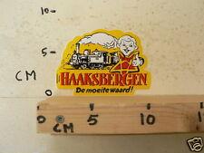 STICKER,DECAL HAAKSBERGEN DE MOEITE WAARD STOOMTREIN STEAMTRAIN
