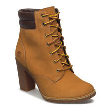 "Women's Timberland 6"" Tillston Nubuck Leather Boots Wheat Sz 8.5 US [A1KJH]"