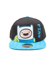 Adventure Time Finn Impreso Visera Negro Snapback Cap (oficial)