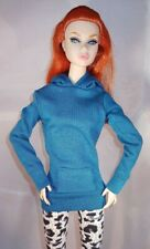 Blue Hoodie The Vogue HK for Integrity Toys Poppy Parker & other 1:6 scale dolls