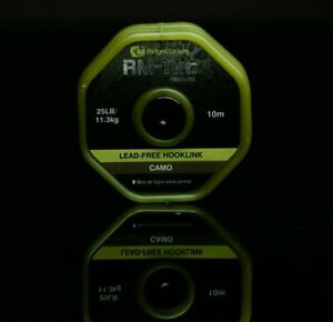 RIDGEMONKEY RM-Tec 25lb Lead free Hooklink Ridge Monkey Hook Link All Colours
