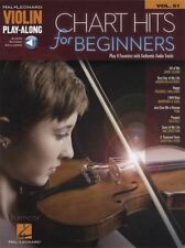 Chart Hits for Beginners Violin Play-Along Sheet Music Book with Audio