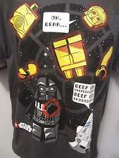 Lego Star Wars Lucasfilm Mad Engine T Shirt Youth XL Charcoal C3PIO R2D2 Darth V