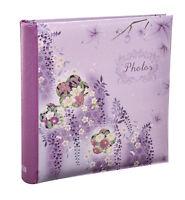 Slip in memo photo album 6x4'' for 200 hold purple gift album - Pack of 2