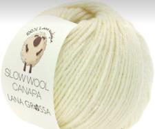 Slow Wool Canapa 50g Lana Grossa Écologique Fil Fb.1 = Blanc Naturel
