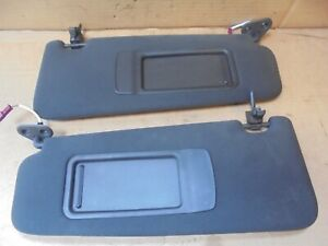 BMW 3 SERIES E90 2007 PAIR OF SUN VISORS WITH 2 MIRRORS AND CLIPS