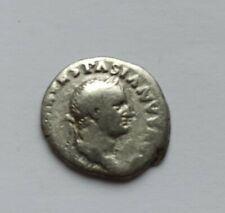 ANCIENT ROMAN SILVER DENARIUS EMPEROR VESPASIAN /69-79 AD/
