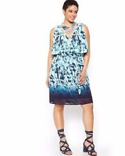 Additions Elle Plus size Michel studio Chiffon over lined Party DRESS 20 NEW