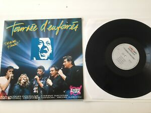 Album LP Tournée D'Enfoirés Johnny Hallyday Goldman Sardou Mitchell Sanson