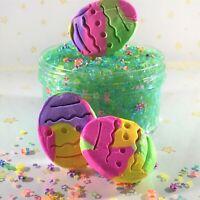 """Butter x Bingsu Slime """"EGG HUNT"""" Green Crunchy Clay Egg Shapes Scented 6 8 oz"""
