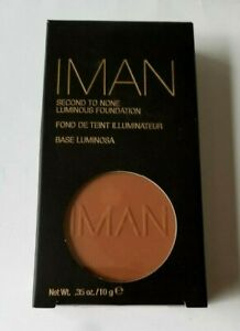 IMAN Second To None Luminous Powder Foundation + Vitamin E ~EARTH 2~ .35 oz NEW