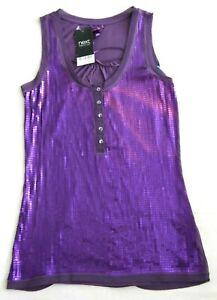 Next Womens Purple Sequined Vest Top UK Size 6 BNWT RRP £22