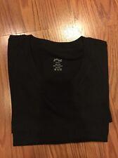2(X)IST Black Slim V-Neck Cotton T Shirt Size S