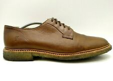 Frye Logo Brown Leather Dress Casual Lace Up Oxfords Shoes Men's 11 D