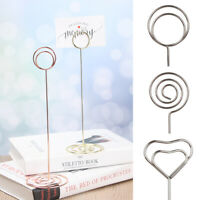 Gold Wedding Supplies Table Numbers Holder Clamps Stand Photos Clips Place Card