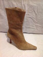 Kurt Geiger Beige Ankle Suede Boots Size 36.5