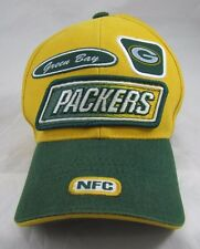 Lots of Patches! Vintage Green Bay PACKERS Embroidered Velcro Hat by Puma