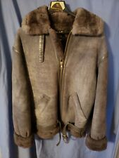 HARLIN  Genuine Shearling  Women's Leather Coat Size 42 Very Warm Made In USA