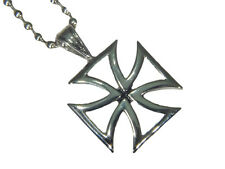 BUTW- Knights Templar German Iron Cross Stainless Steel Pendant Necklace  5148E