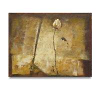 Abandoned White Rose 30x40 Impressionist Original Oil Painting on Canvas. Sale!!