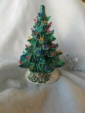 Ceramic Christmas Vintage Mold  New Small GREAN TREE HOLLY BASE  USA