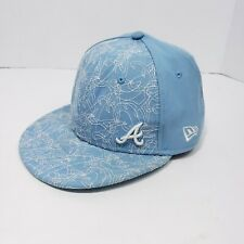 Atlanta Braves New Era 59fifty 7 5/8 Fitted Embroidered Hat Ball Cap Retro VTG