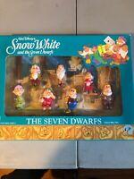 Walt Disney Seven Dwarfs Figure Set Vintage Mattel #1015 NIB